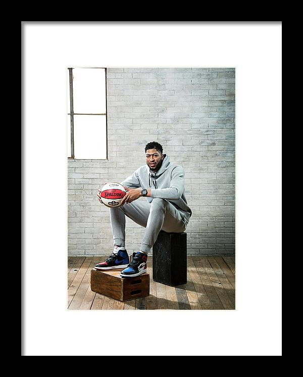 Nba Pro Basketball Framed Print featuring the photograph Anthony Davis by Nathaniel S. Butler