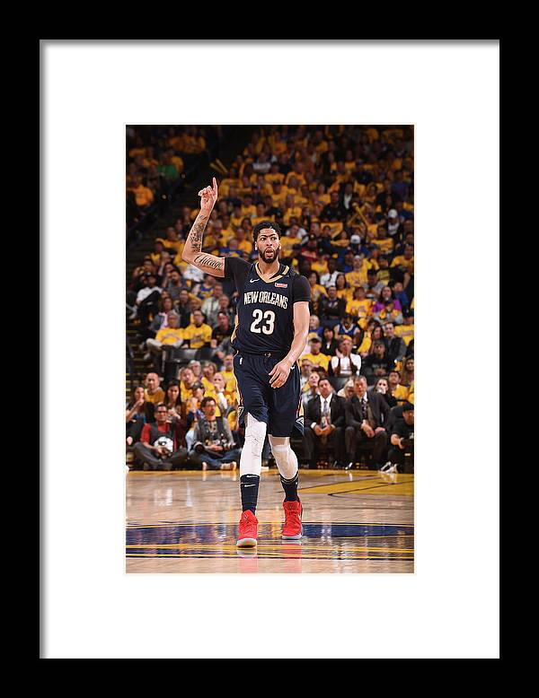 Playoffs Framed Print featuring the photograph Anthony Davis by Noah Graham