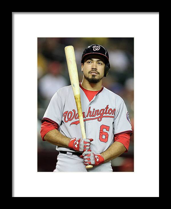 National League Baseball Framed Print featuring the photograph Anthony Rendon by Christian Petersen