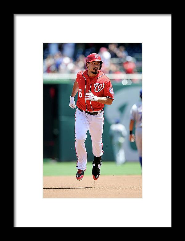 American League Baseball Framed Print featuring the photograph Anthony Rendon by Greg Fiume
