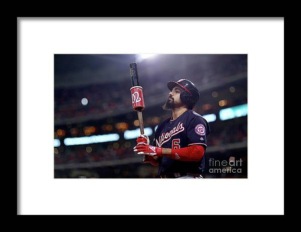 People Framed Print featuring the photograph Anthony Rendon by Mike Ehrmann