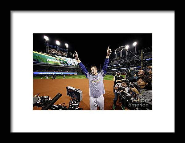 People Framed Print featuring the photograph Anthony Rizzo by Ezra Shaw