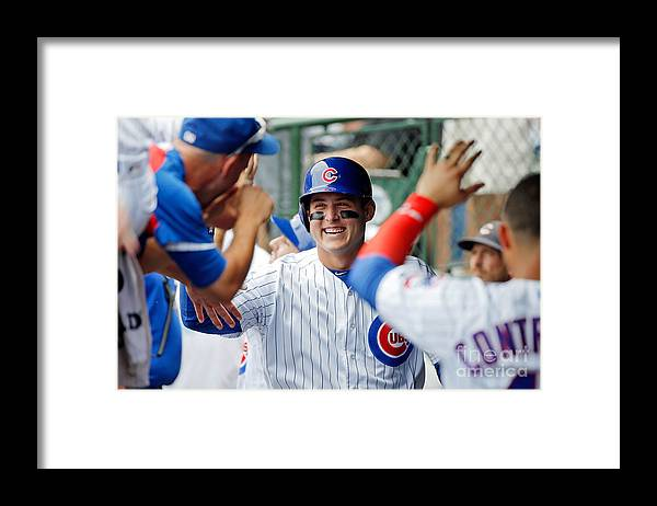 People Framed Print featuring the photograph Anthony Rizzo by Jon Durr