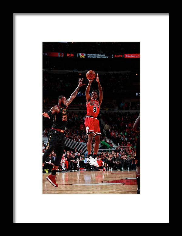 United Center Framed Print featuring the photograph Antonio Blakeney by Jeff Haynes