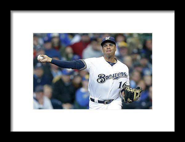 Three Quarter Length Framed Print featuring the photograph Aramis Ramirez by Mike Mcginnis