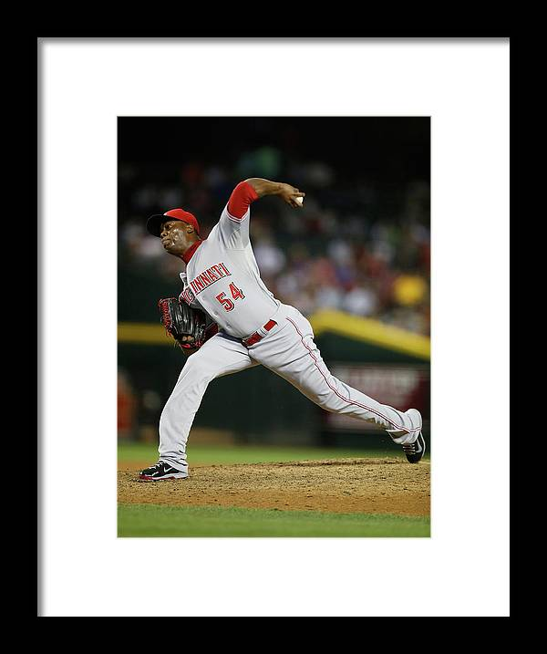 Relief Pitcher Framed Print featuring the photograph Aroldis Chapman by Christian Petersen