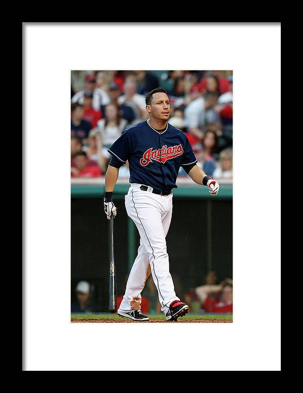 American League Baseball Framed Print featuring the photograph Asdrubal Cabrera by David Maxwell