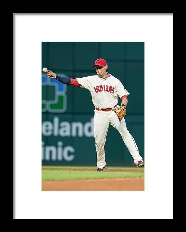 American League Baseball Framed Print featuring the photograph Asdrubal Cabrera by Jason Miller
