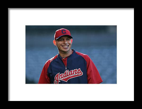 American League Baseball Framed Print featuring the photograph Asdrubal Cabrera by Jeff Gross