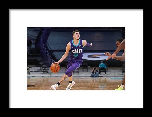 Nba Pro Basketball Framed Print featuring the photograph Atlanta Hawks v Charlotte Hornets by Brock Williams-Smith