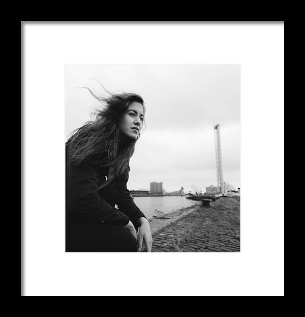 People Framed Print featuring the photograph Attractive Young Woman At Derelict Glasgow Docks by Theasis