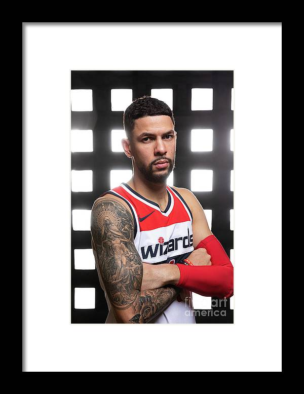 Media Day Framed Print featuring the photograph Austin Rivers by Stephen Gosling