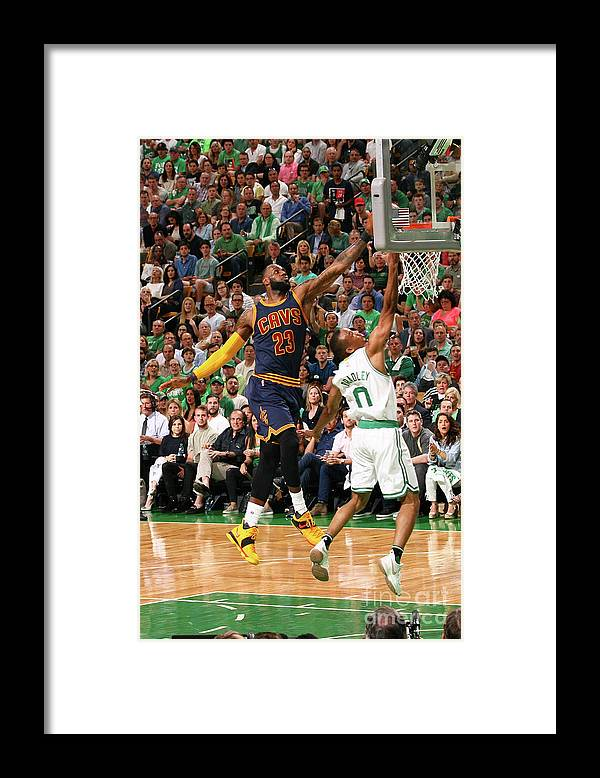Playoffs Framed Print featuring the photograph Avery Bradley and Lebron James by Nathaniel S. Butler
