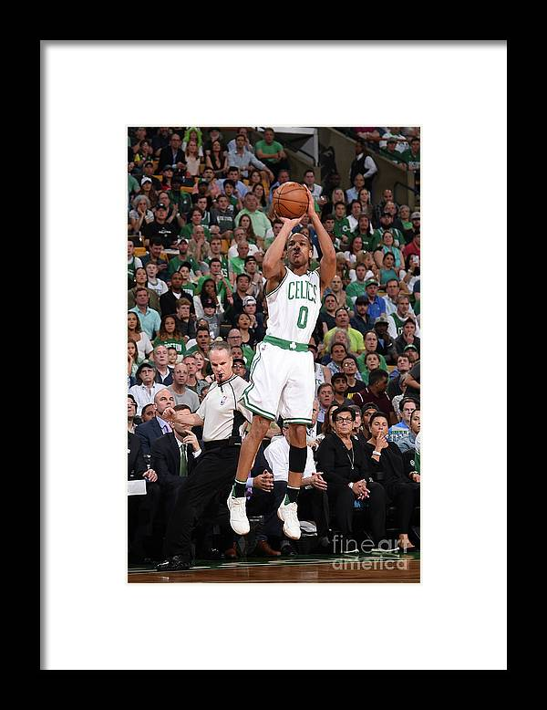Playoffs Framed Print featuring the photograph Avery Bradley by Brian Babineau