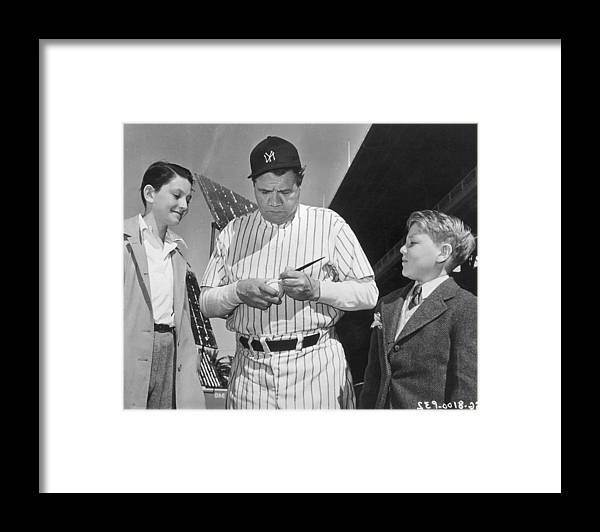 Child Framed Print featuring the photograph Babe Ruth by American Stock Archive