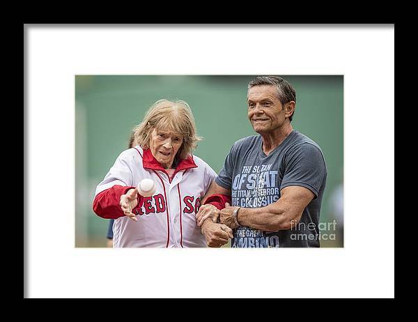 People Framed Print featuring the photograph Babe Ruth by Billie Weiss/boston Red Sox
