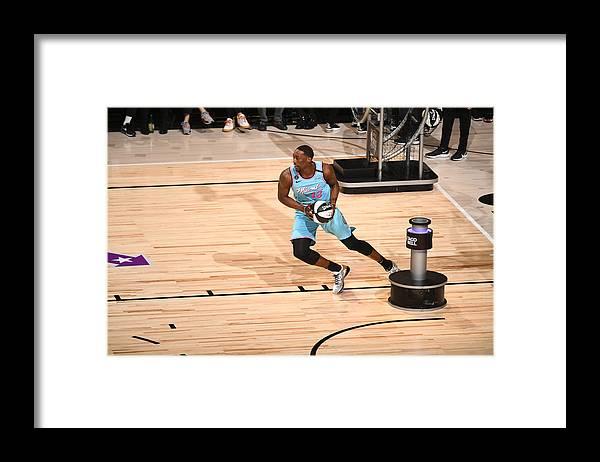 Nba Pro Basketball Framed Print featuring the photograph Bam Adebayo by Garrett Ellwood