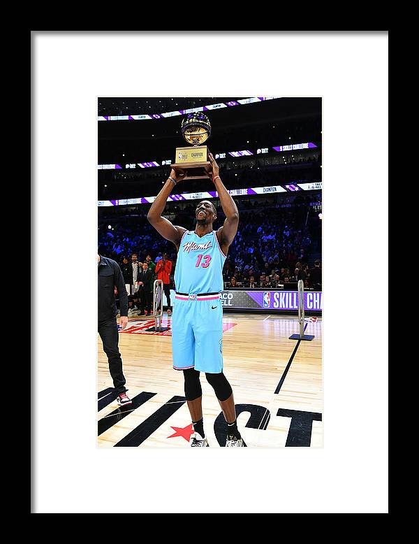 Nba Pro Basketball Framed Print featuring the photograph Bam Adebayo by Jesse D. Garrabrant