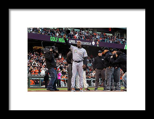 San Francisco Framed Print featuring the photograph Barry Bonds by Jason O. Watson