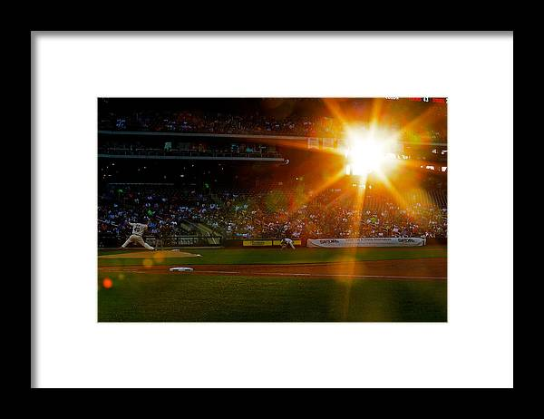 American League Baseball Framed Print featuring the photograph Bartolo Colon by Mike Stobe