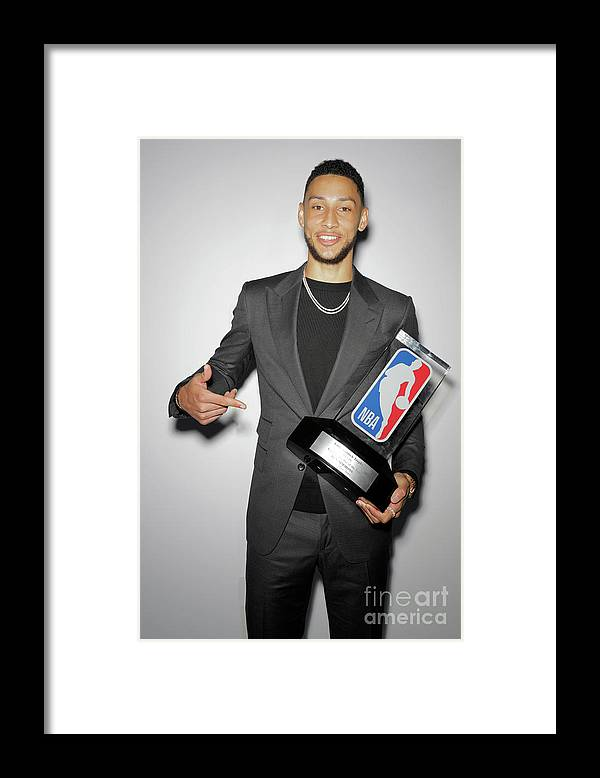 Nba Pro Basketball Framed Print featuring the photograph Ben Simmons by Atiba Jefferson