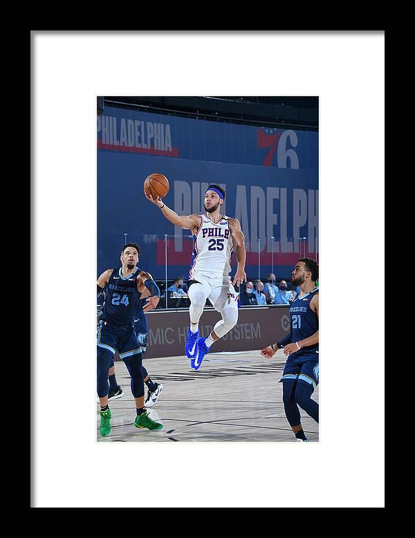 Nba Pro Basketball Framed Print featuring the photograph Ben Simmons by Bill Baptist