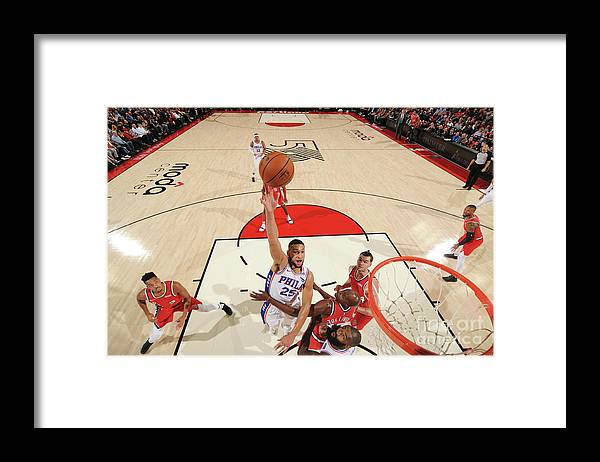 Nba Pro Basketball Framed Print featuring the photograph Ben Simmons by Cameron Browne