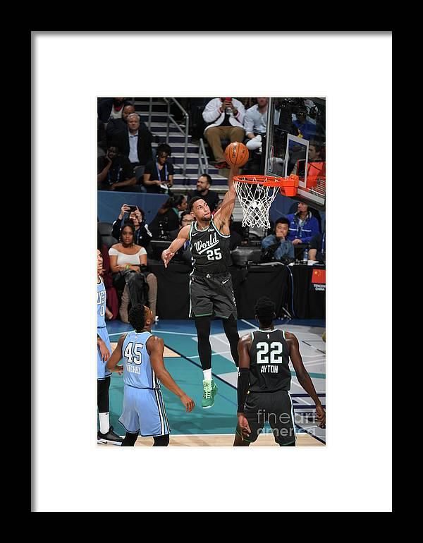 Nba Pro Basketball Framed Print featuring the photograph Ben Simmons by Garrett Ellwood