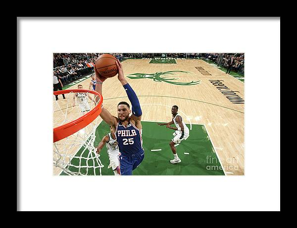 Nba Pro Basketball Framed Print featuring the photograph Ben Simmons by Gary Dineen