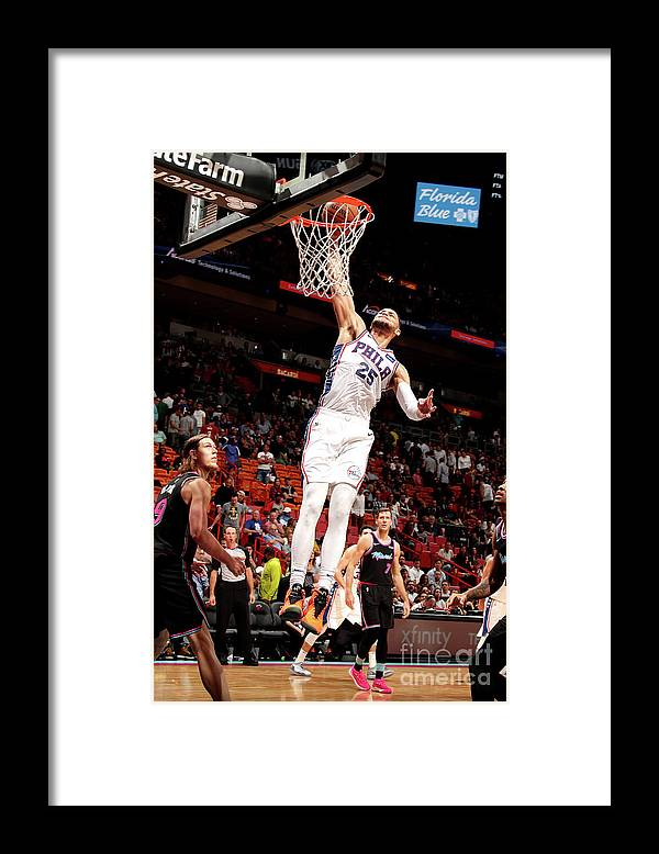 Nba Pro Basketball Framed Print featuring the photograph Ben Simmons by Issac Baldizon