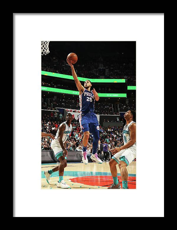 Nba Pro Basketball Framed Print featuring the photograph Ben Simmons by Kent Smith