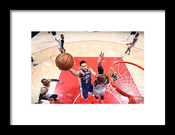 Playoffs Framed Print featuring the photograph Ben Simmons by Ned Dishman