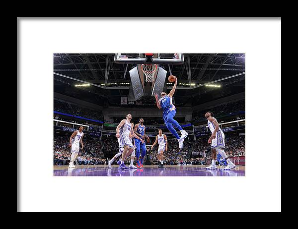 Nba Pro Basketball Framed Print featuring the photograph Ben Simmons by Rocky Widner