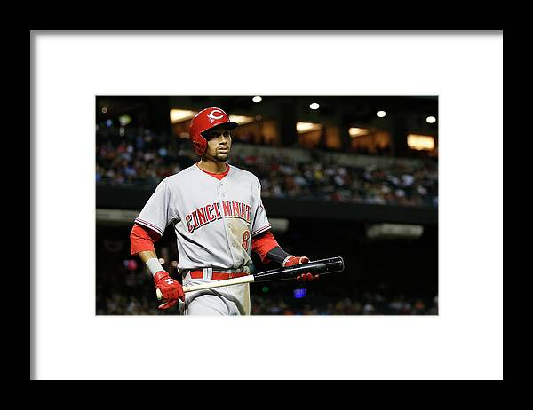 National League Baseball Framed Print featuring the photograph Billy Hamilton by Christian Petersen