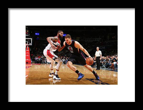 Nba Pro Basketball Framed Print featuring the photograph Blake Griffin by Ned Dishman