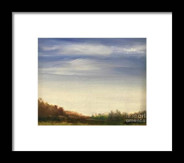 Blue Sky Landscape Framed Print featuring the painting Blue Sky by Sheila Mashaw