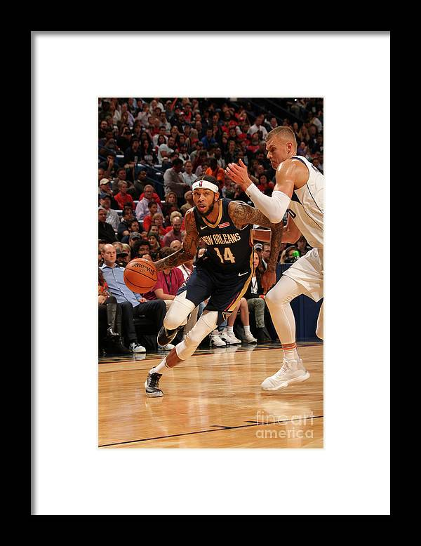 Smoothie King Center Framed Print featuring the photograph Brandon Ingram by Layne Murdoch Jr.