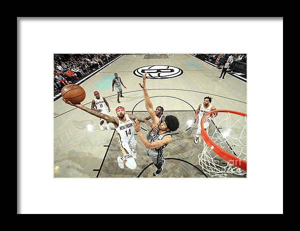 Nba Pro Basketball Framed Print featuring the photograph Brandon Ingram by Nathaniel S. Butler
