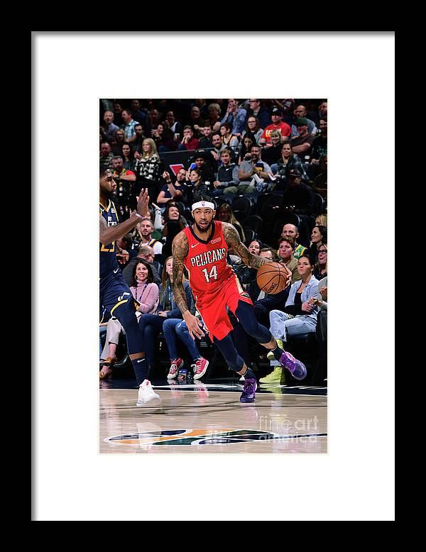 Nba Pro Basketball Framed Print featuring the photograph Brandon Ingram by Noah Graham