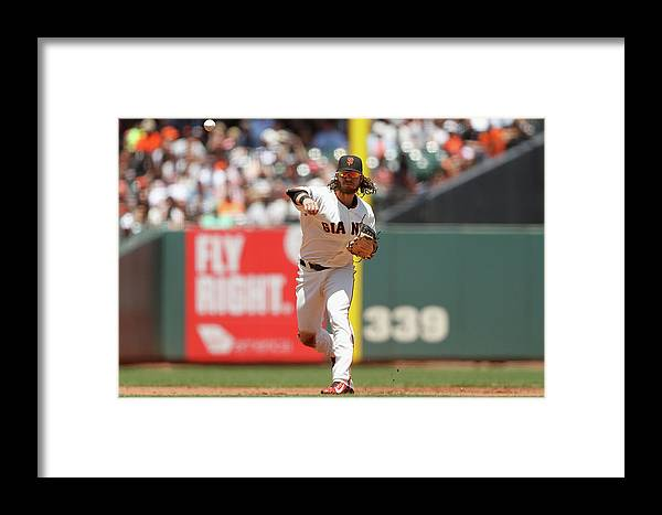 San Francisco Framed Print featuring the photograph Brandon League by Lachlan Cunningham