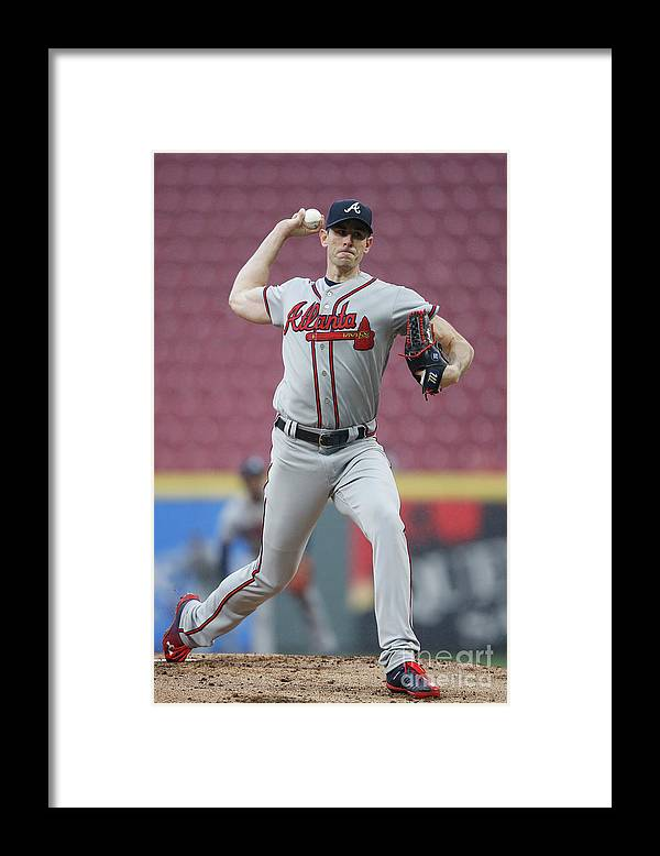 Great American Ball Park Framed Print featuring the photograph Brandon Mccarthy by Joe Robbins
