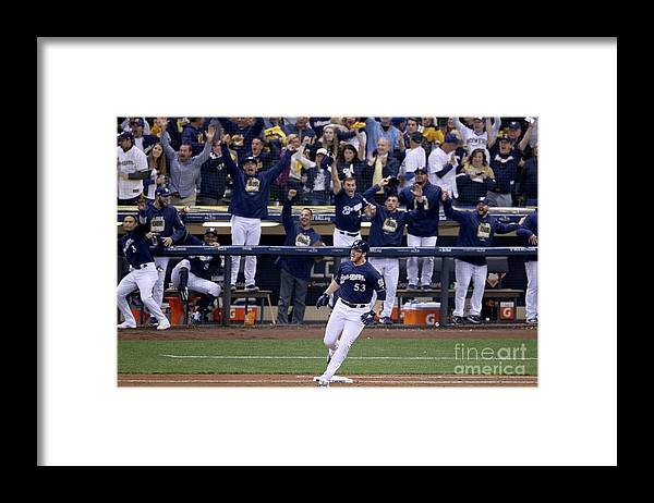 People Framed Print featuring the photograph Brandon Woodruff and Clayton Kershaw by Dylan Buell
