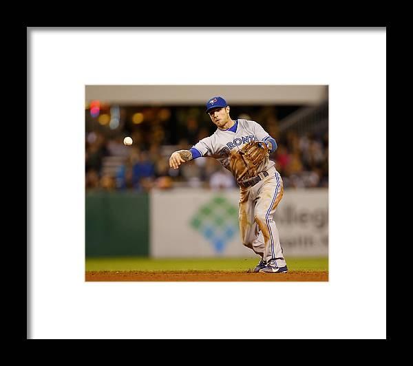 American League Baseball Framed Print featuring the photograph Brett Lawrie by Matt Sullivan