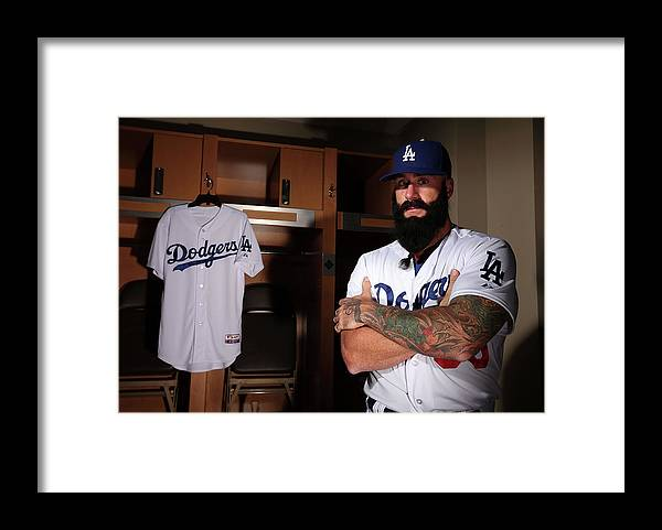 Media Day Framed Print featuring the photograph Brian Wilson by Christian Petersen
