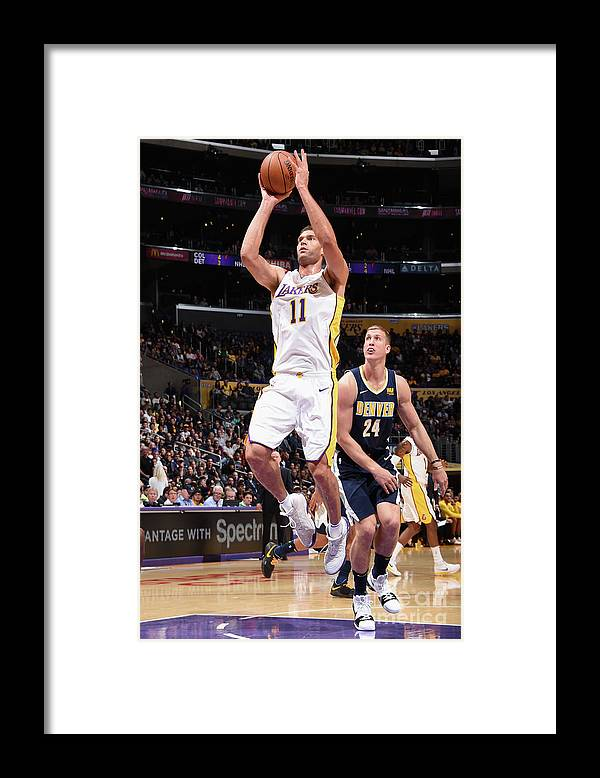 Nba Pro Basketball Framed Print featuring the photograph Brook Lopez by Andrew D. Bernstein