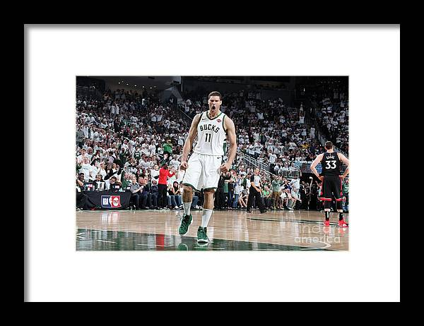 Playoffs Framed Print featuring the photograph Brook Lopez by Nathaniel S. Butler