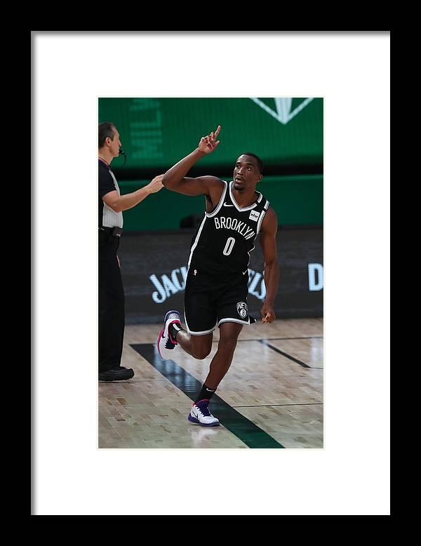 Nba Pro Basketball Framed Print featuring the photograph Brooklyn Nets v Milwaukee Bucks by Joe Murphy