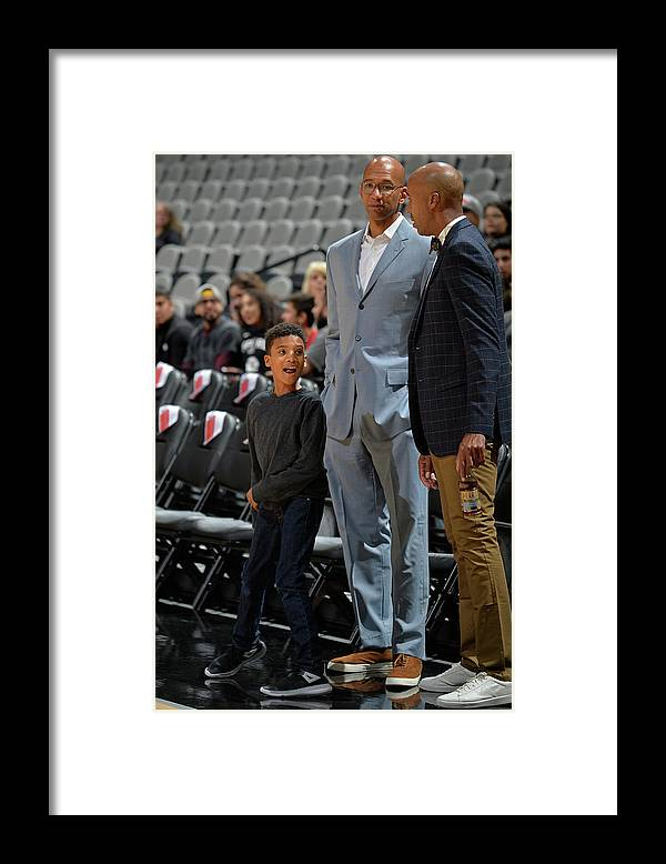 Nba Pro Basketball Framed Print featuring the photograph Bruce Bowen and Monty Williams by Mark Sobhani