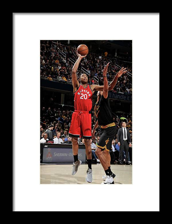Nba Pro Basketball Framed Print featuring the photograph Bruno Caboclo by David Liam Kyle