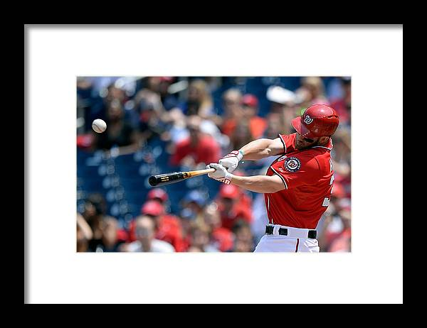 Second Inning Framed Print featuring the photograph Bryce Harper by Patrick Mcdermott